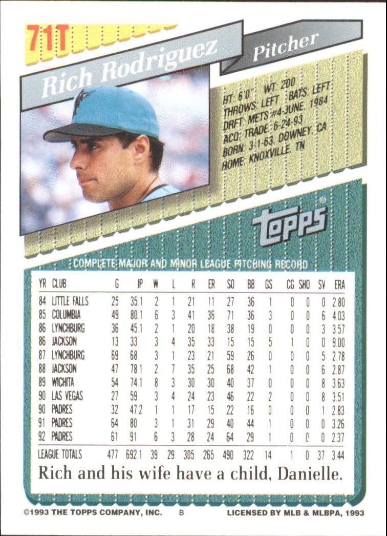 1993-Topps-Achete-Baseball-Carte-Choisissez miniature 123