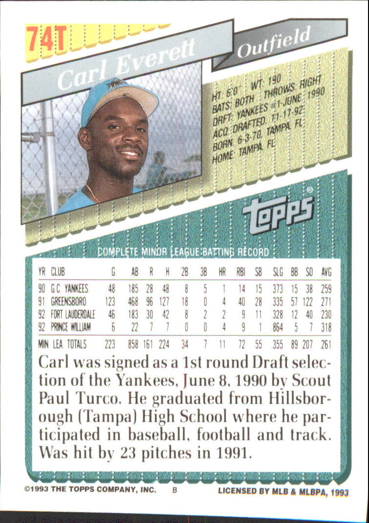 1993-Topps-Achete-Baseball-Carte-Choisissez miniature 129