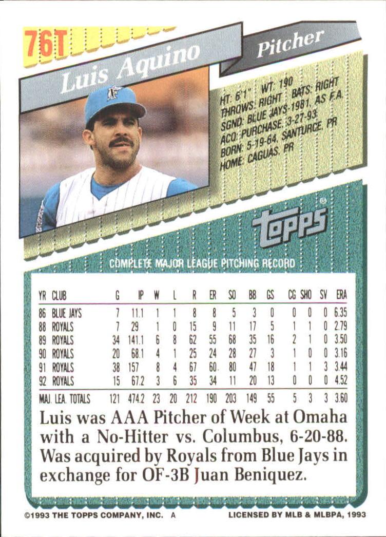 1993-Topps-Achete-Baseball-Carte-Choisissez miniature 133