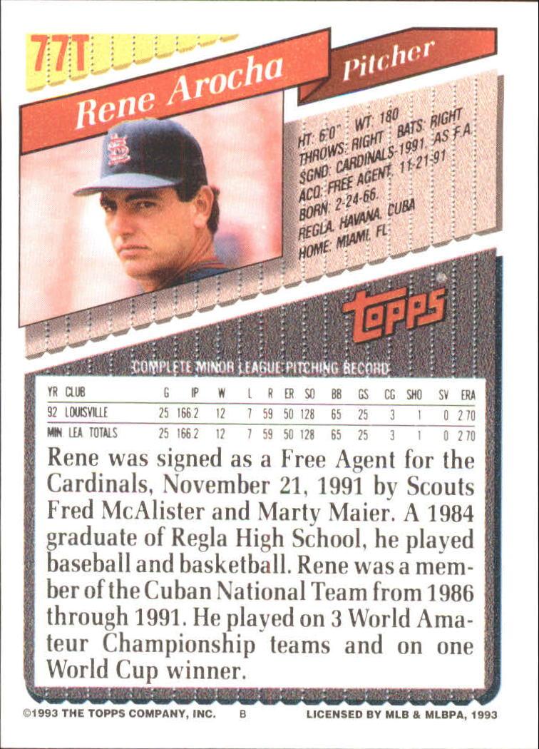 1993-Topps-Achete-Baseball-Carte-Choisissez miniature 135