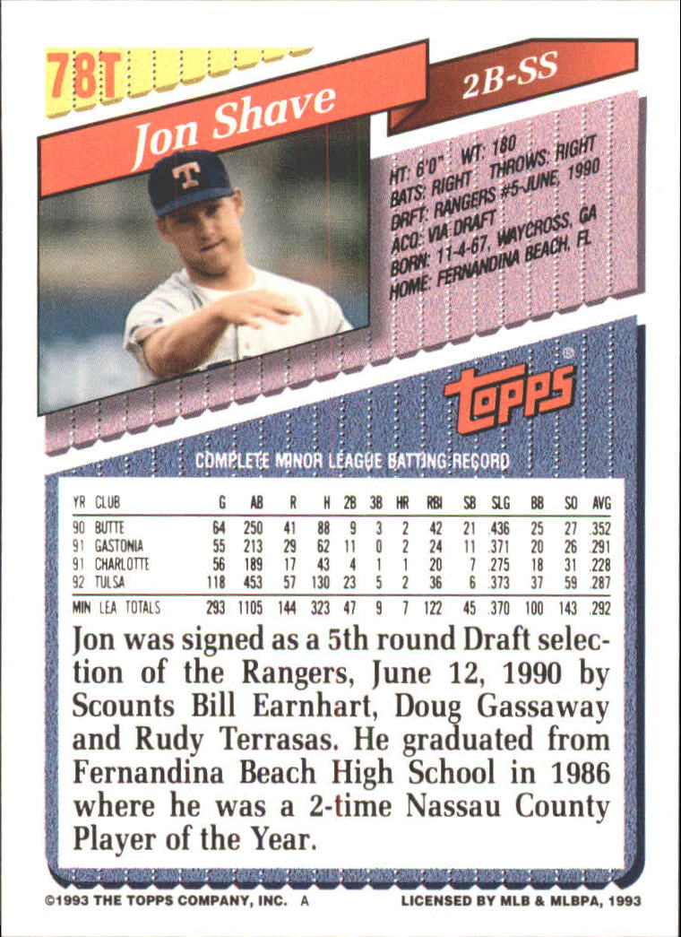 1993-Topps-Achete-Baseball-Carte-Choisissez miniature 137