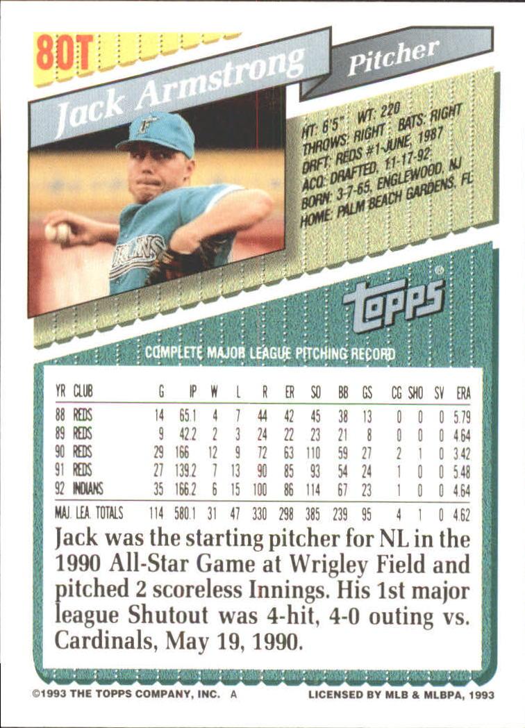 1993-Topps-Achete-Baseball-Carte-Choisissez miniature 141