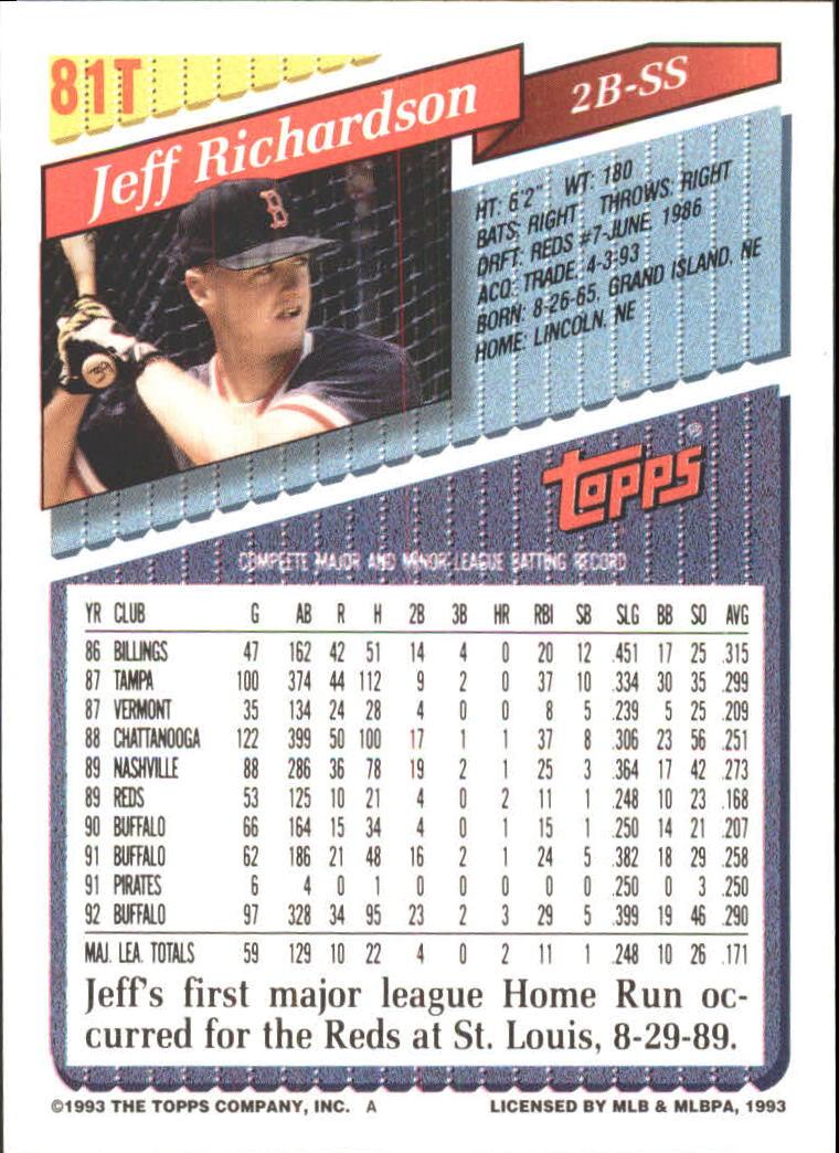 1993-Topps-Achete-Baseball-Carte-Choisissez miniature 143