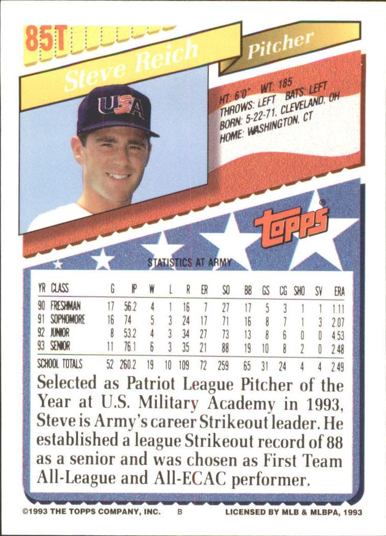 1993-Topps-Achete-Baseball-Carte-Choisissez miniature 149