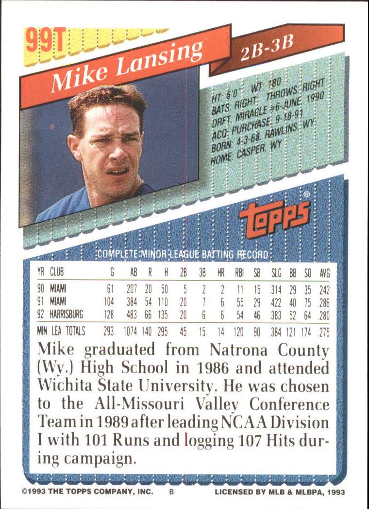 1993-Topps-Achete-Baseball-Carte-Choisissez miniature 170