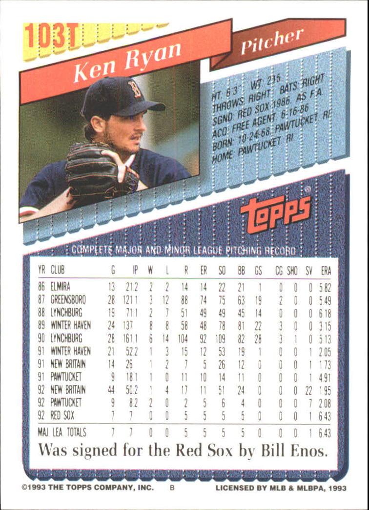 1993-Topps-Achete-Baseball-Carte-Choisissez miniature 178