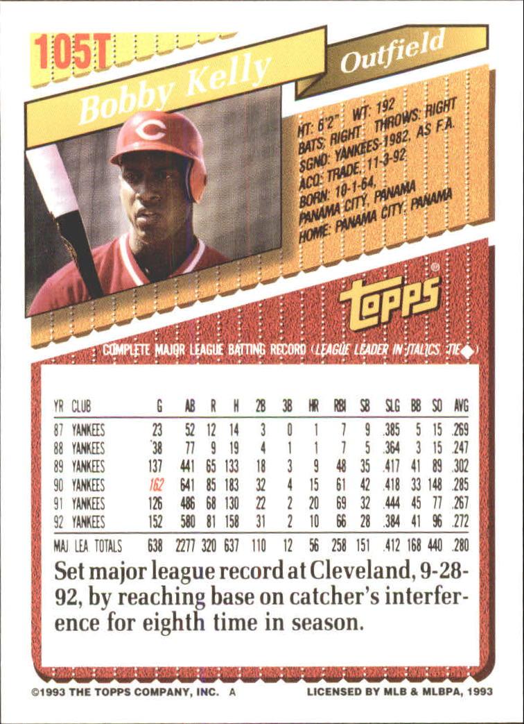 1993-Topps-Achete-Baseball-Carte-Choisissez miniature 182
