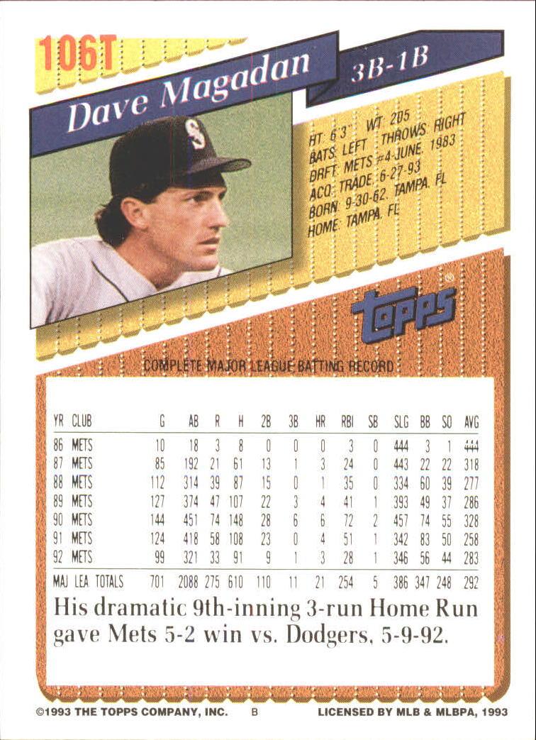1993-Topps-Achete-Baseball-Carte-Choisissez miniature 184