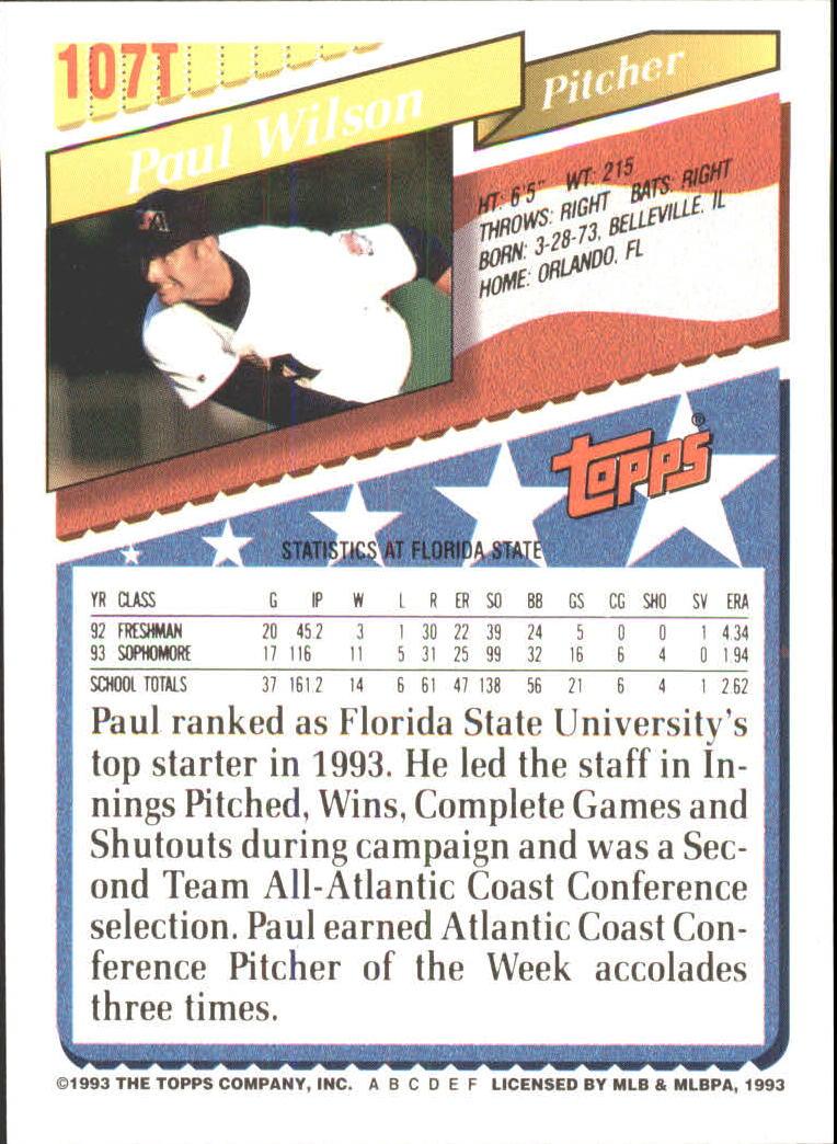 1993-Topps-Achete-Baseball-Carte-Choisissez miniature 186
