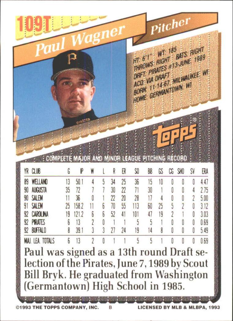 1993-Topps-Achete-Baseball-Carte-Choisissez miniature 190