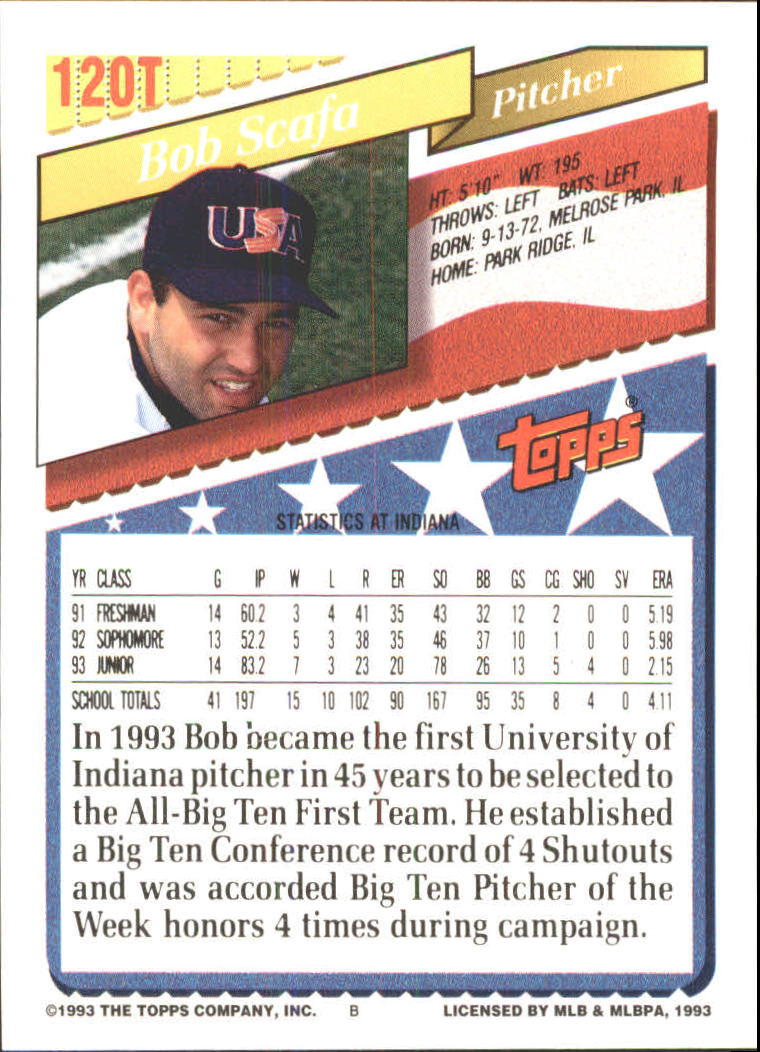 1993-Topps-Achete-Baseball-Carte-Choisissez miniature 212