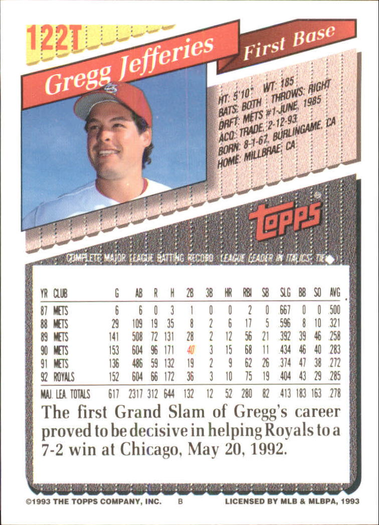 1993-Topps-Achete-Baseball-Carte-Choisissez miniature 216