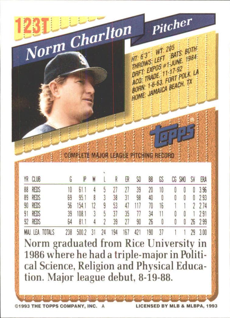1993-Topps-Achete-Baseball-Carte-Choisissez miniature 218