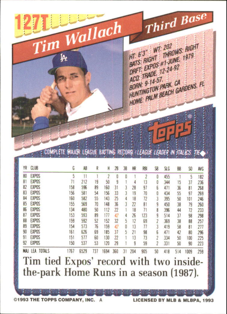 1993-Topps-Achete-Baseball-Carte-Choisissez miniature 226