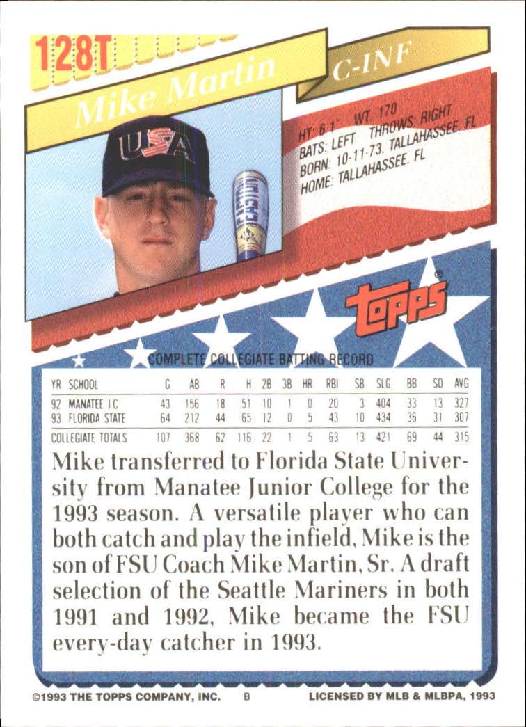 1993-Topps-Achete-Baseball-Carte-Choisissez miniature 228