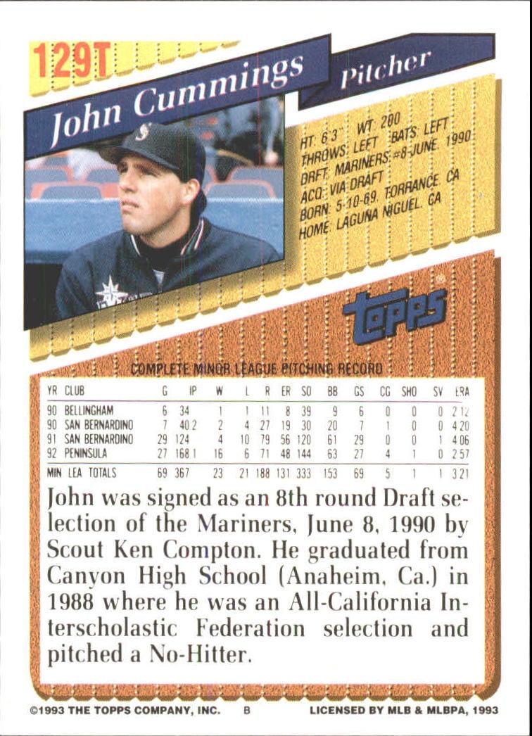 1993-Topps-Achete-Baseball-Carte-Choisissez miniature 230