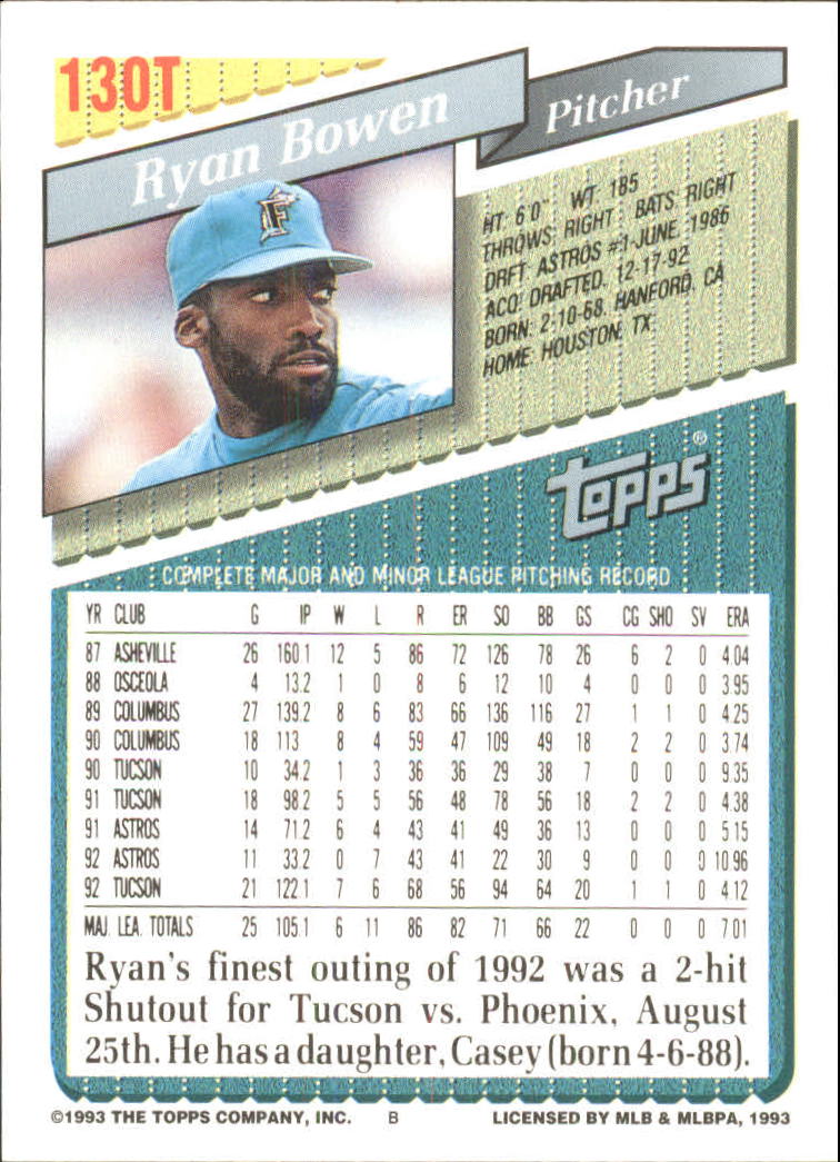 1993-Topps-Achete-Baseball-Carte-Choisissez miniature 232