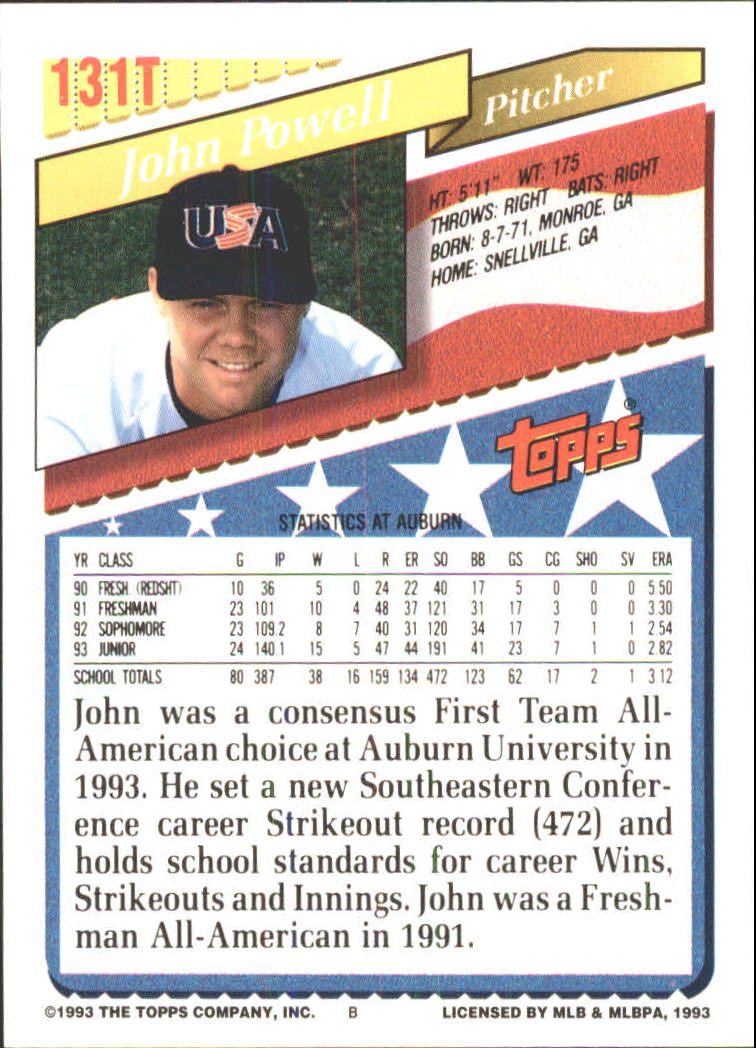 1993-Topps-Achete-Baseball-Carte-Choisissez miniature 234