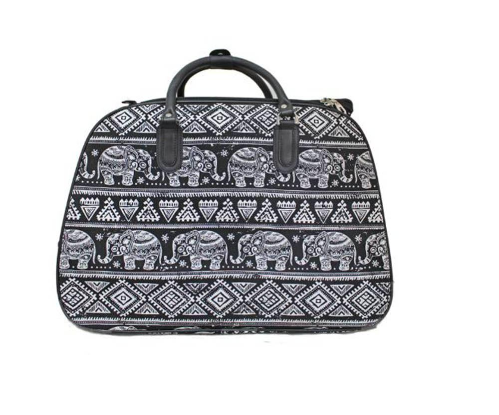 damen neu elefant apple druck reise griff reisetasche mit rollen koffer tasche ebay. Black Bedroom Furniture Sets. Home Design Ideas