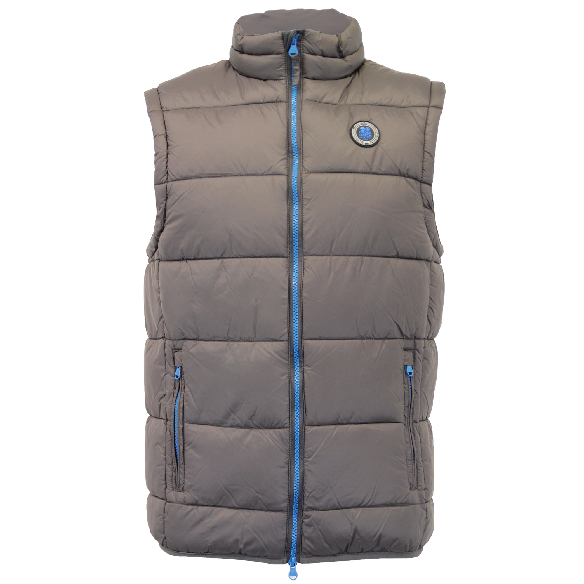 Mens Gilet Crosshatch Bodywarmer Padded Quilted Puffer Sleeveless Lined  Winter; Picture 2 of 4 ...