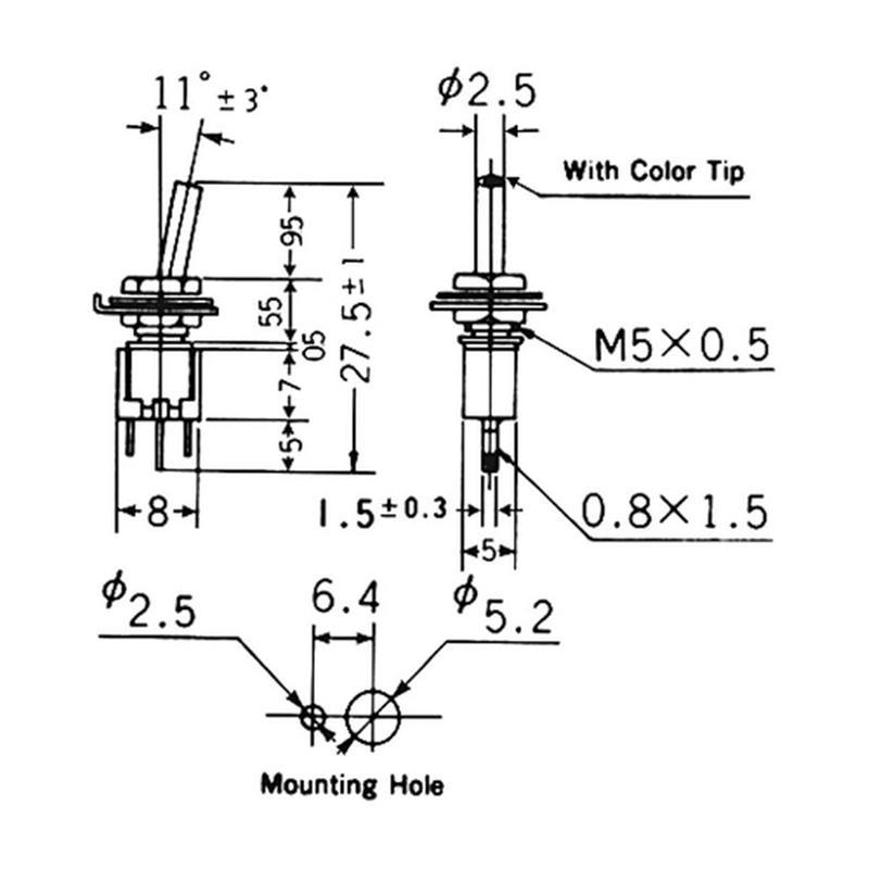 kippschalter versch typen, Mini schalter mit hebel, hebelschalter ...