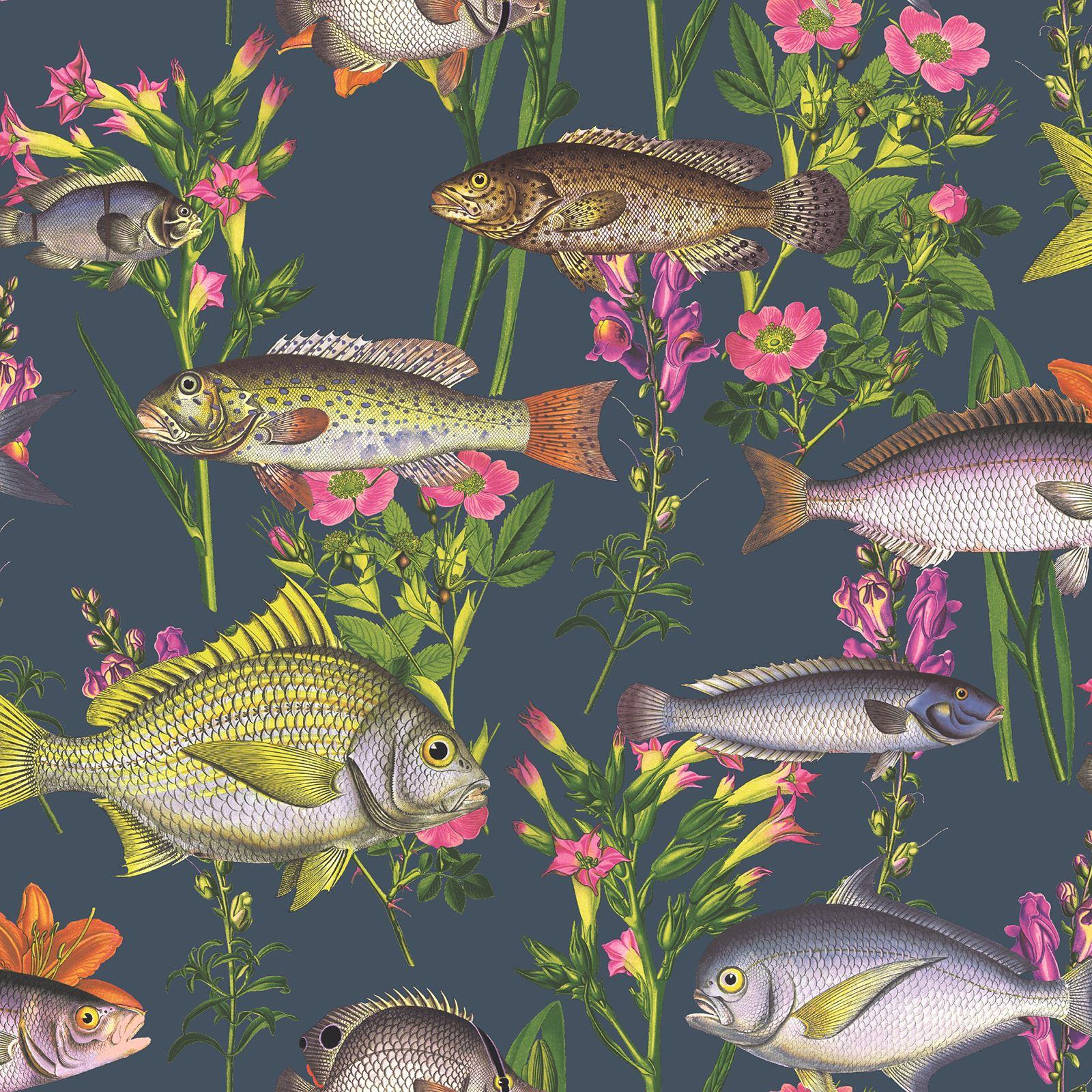 tropical animaux papier peint color l murien poisson. Black Bedroom Furniture Sets. Home Design Ideas