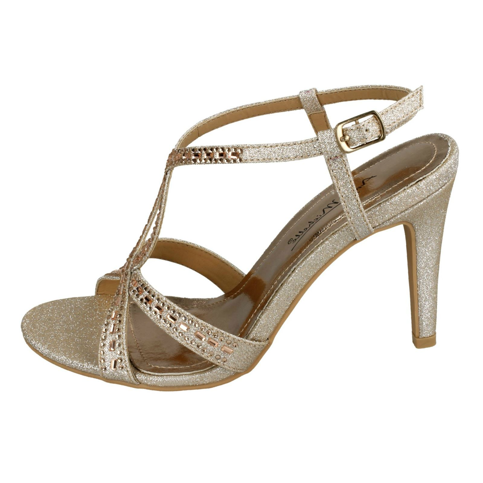 e0383a8cf19c Anne-Michelle-Ladies-Jewelled-Strappy-Sandals thumbnail 10