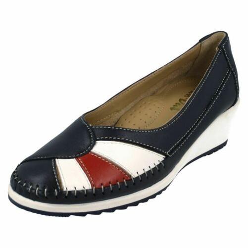 Details about Ladies Van Dal River Slip On Wedge Shoes