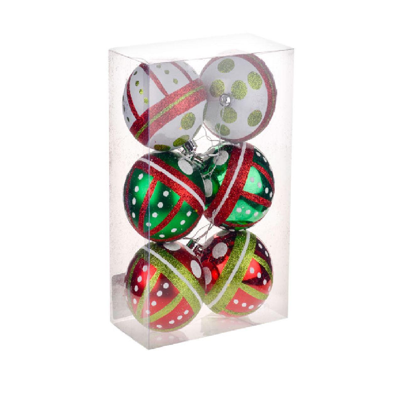 Set-de-6-Multi-Acabado-Navidad-Para-Colgar-Del-Arbol-Bolas-Decoracion-Hogar