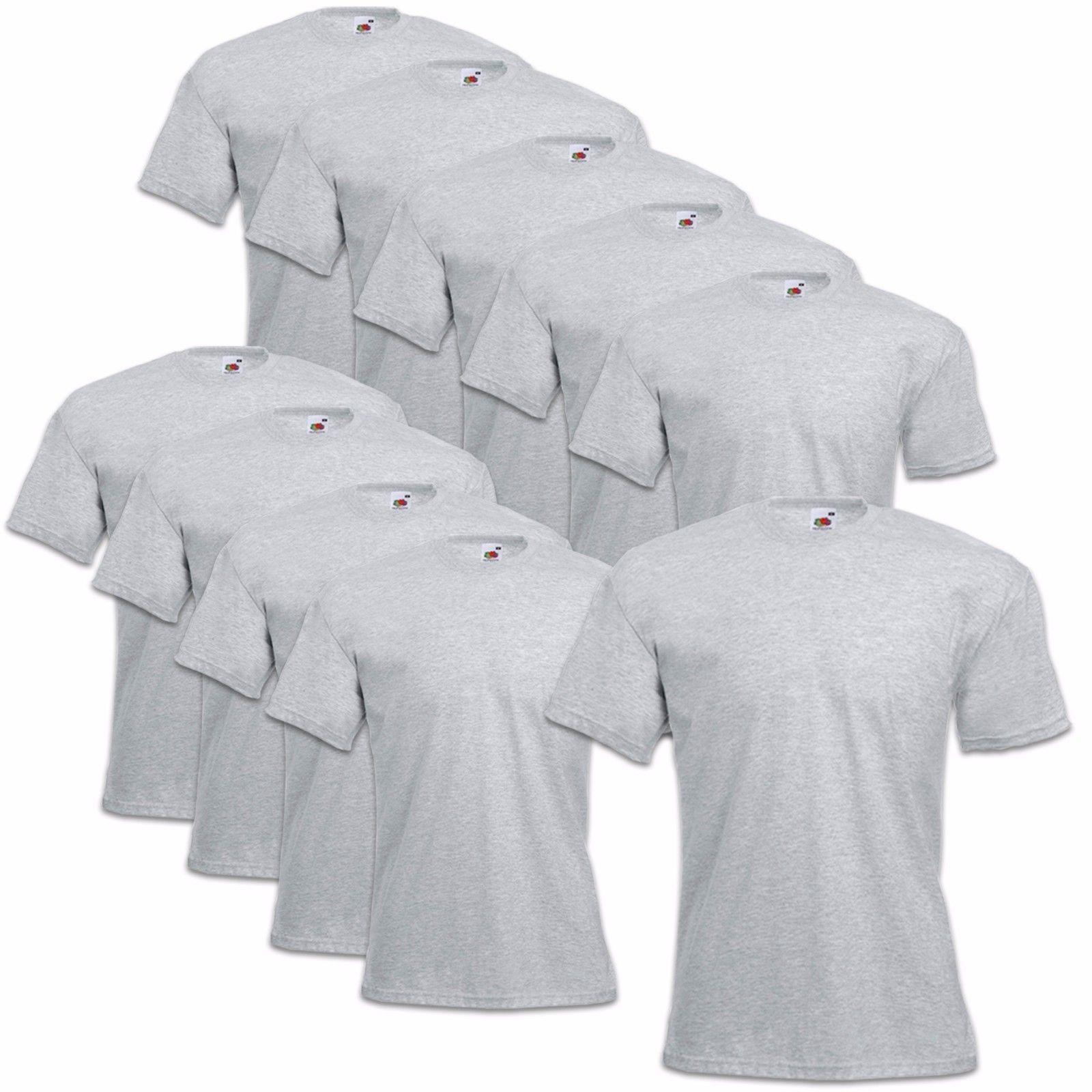 5er-10er-Fruit-Of-The-Loom-T-Shirt-Sets-Coton-S-M-L-XL-XXL-3XL-4XL-Haut