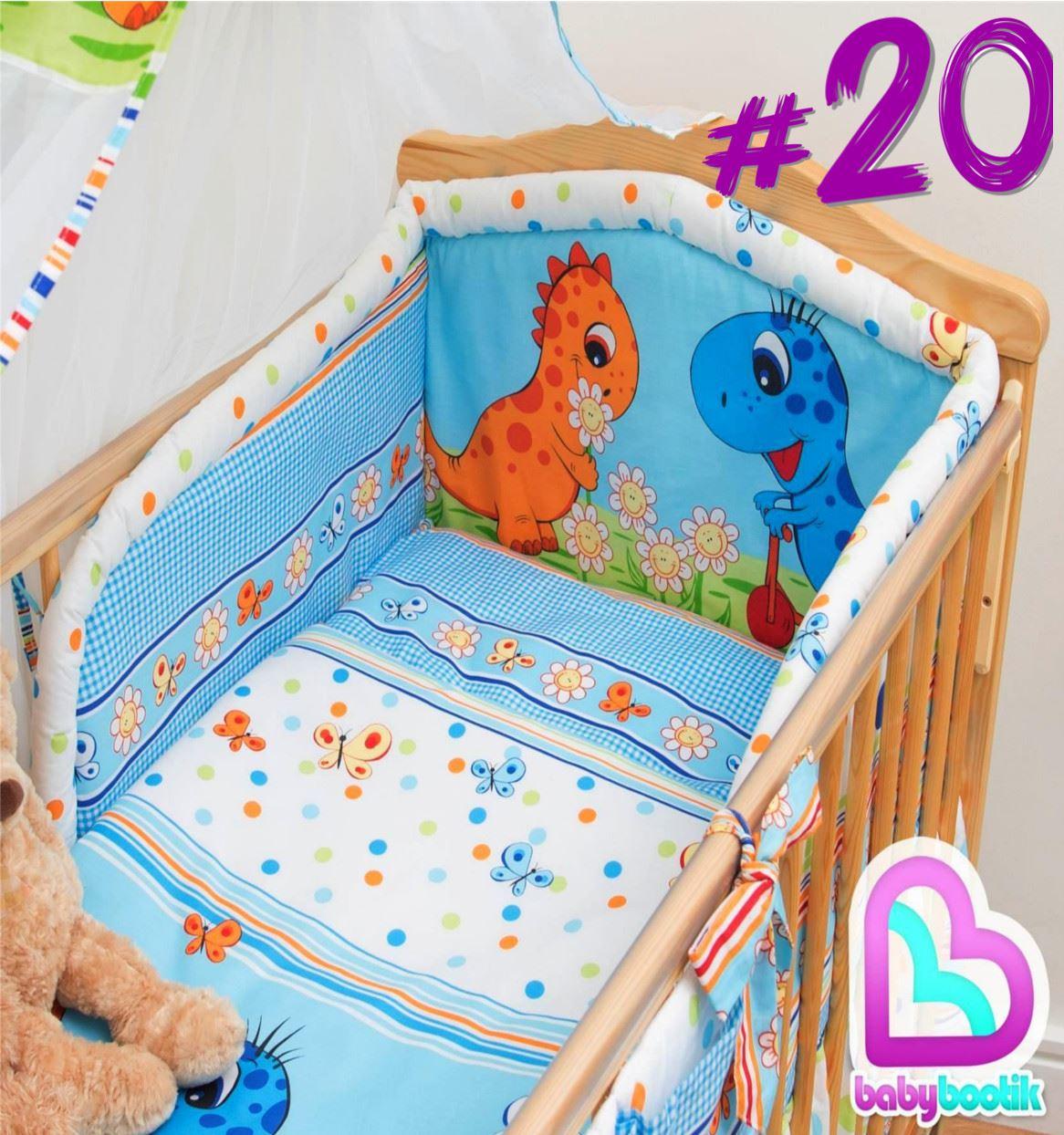 3 stk st ck kinderzimmer baby bettw sche bettw sche set gepolsteter safety ebay. Black Bedroom Furniture Sets. Home Design Ideas