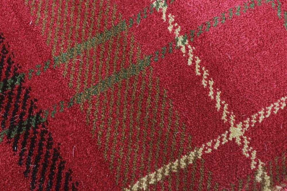 tartan strapazierf hig kariert teppich weiche empfindung rot gr n beige ebay. Black Bedroom Furniture Sets. Home Design Ideas
