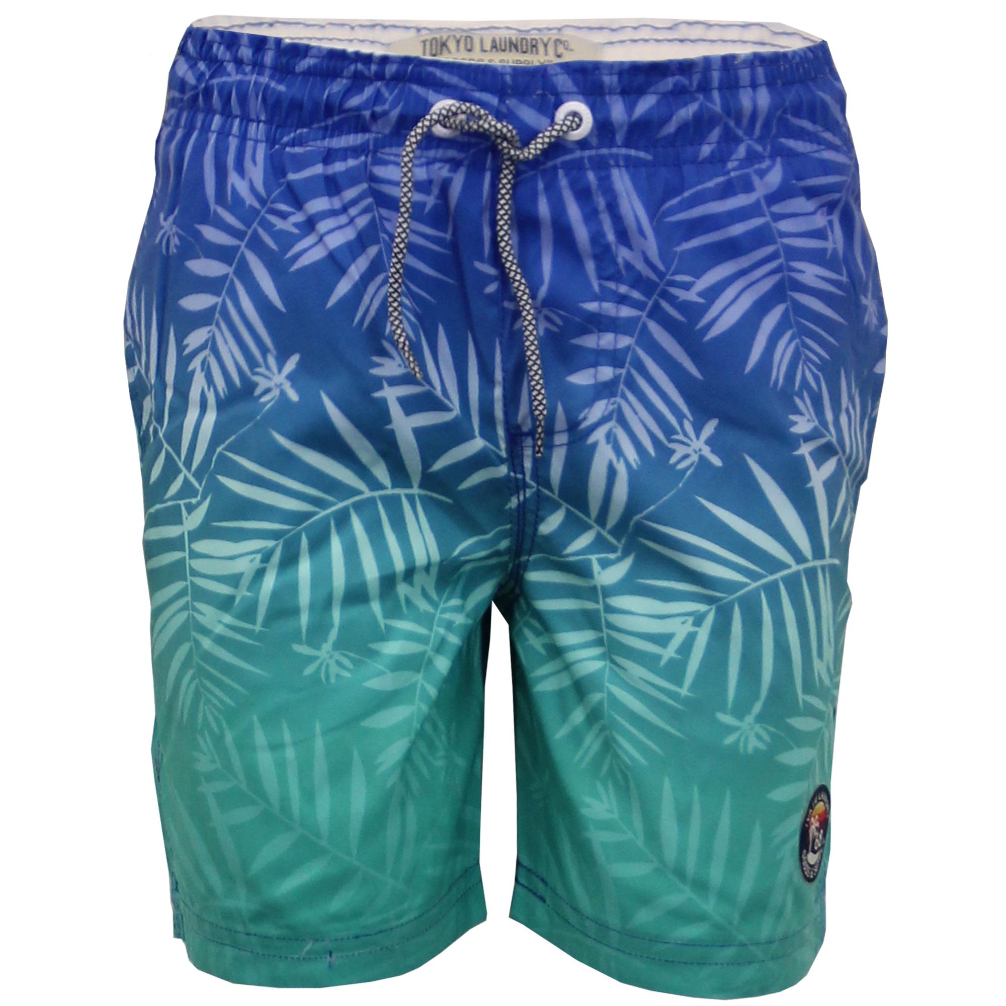 RAGAZZI-nuoto-Shorts-Tokyo-Laundry-bambini-floreale-PALMA-FOGLIA-spiaggia