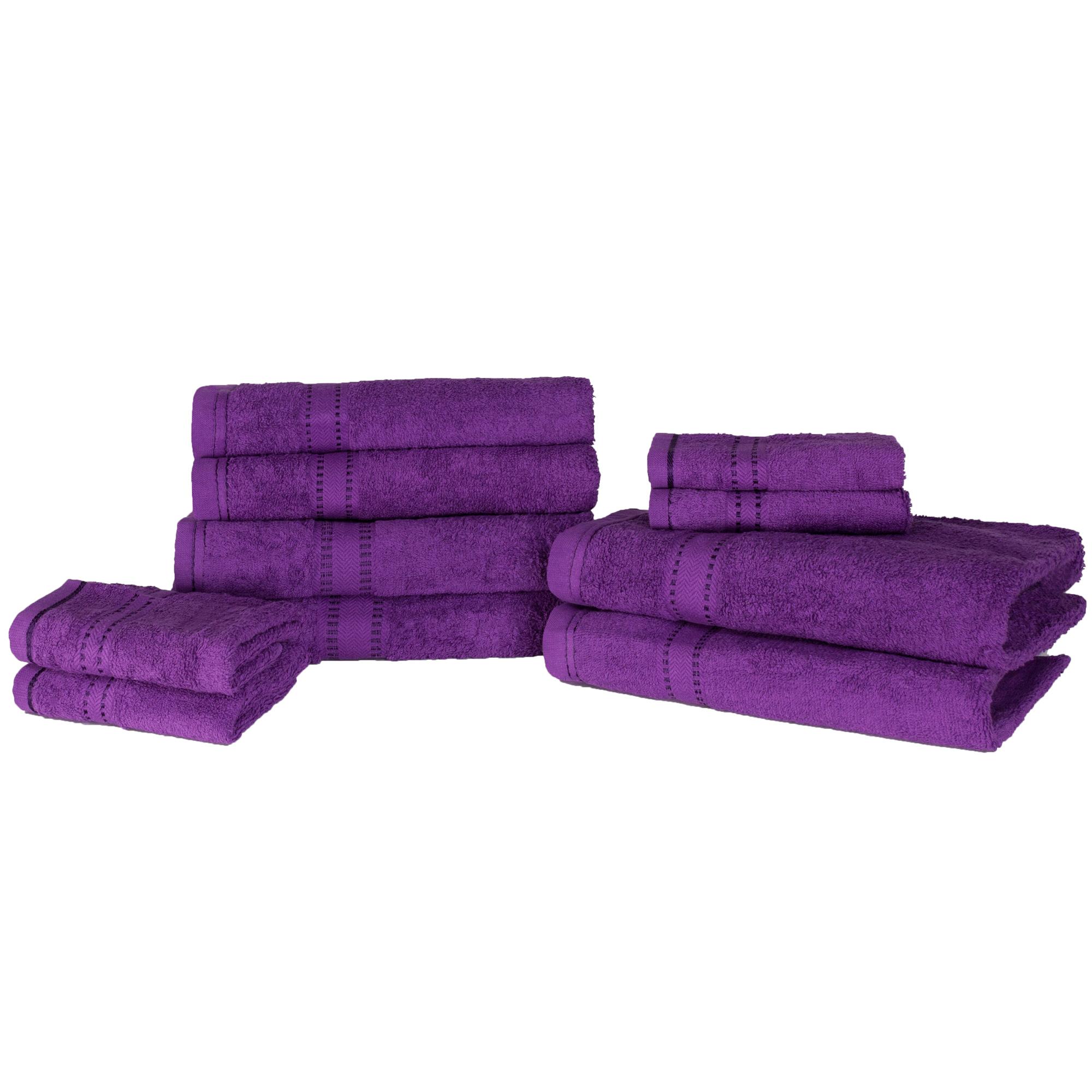 luxuri s weich 10 st ck handtuch b ndel geschenk set 100 baumwolle blau ebay. Black Bedroom Furniture Sets. Home Design Ideas