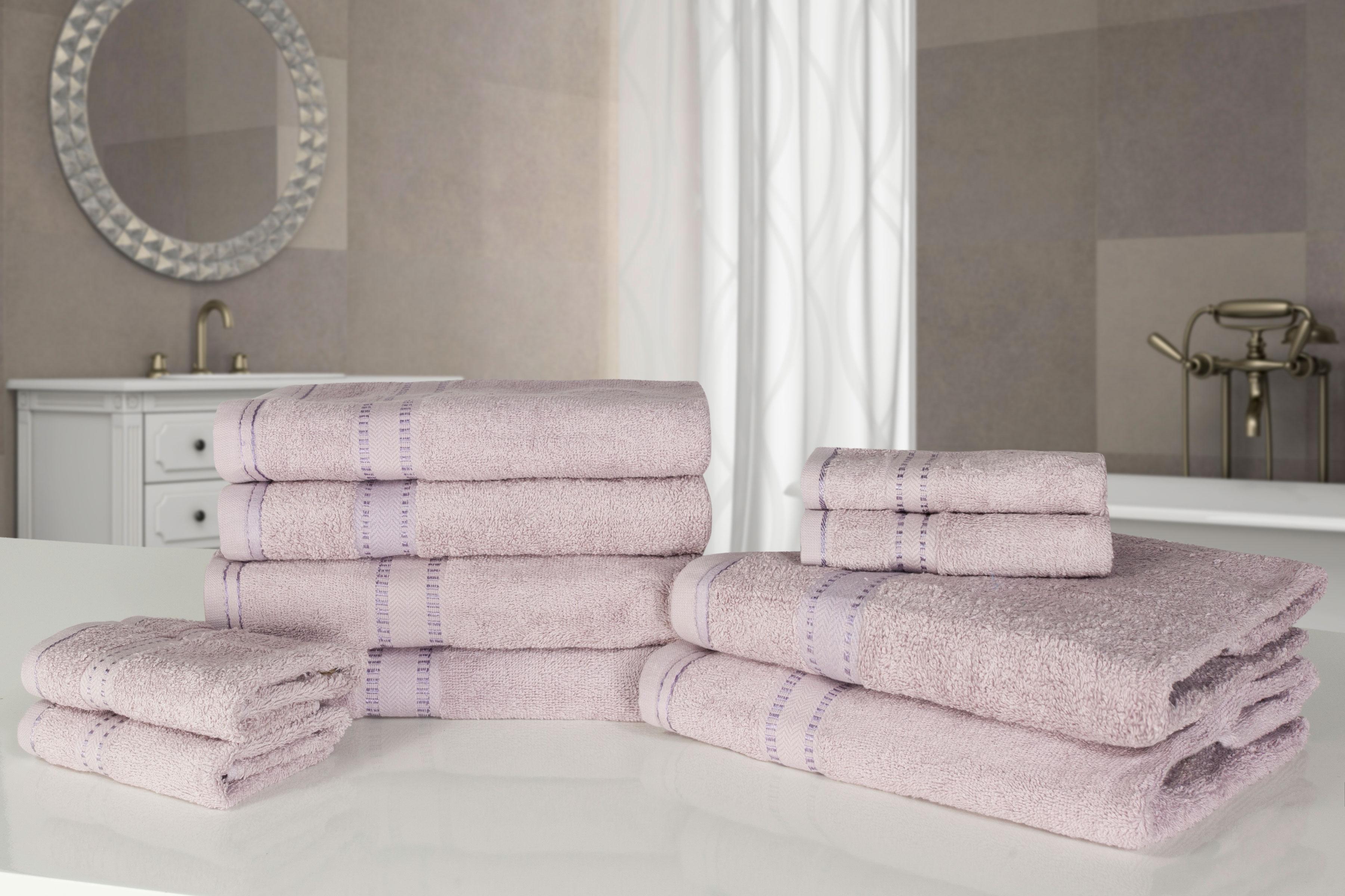 Morbido di lusso 10 pezzi 100 cotone asciugamani set faccia mano bagno ebay - Asciugamani bagno di lusso ...