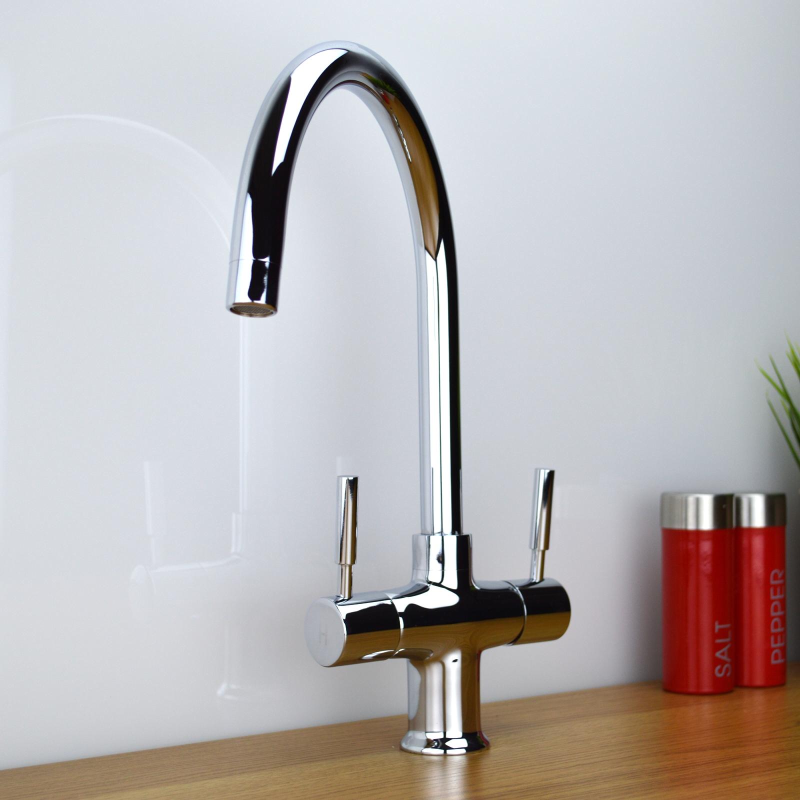 Enki chrome kitchen sink mixer tap traditional black white brushed enki chrome kitchen sink mixer tap traditional black workwithnaturefo