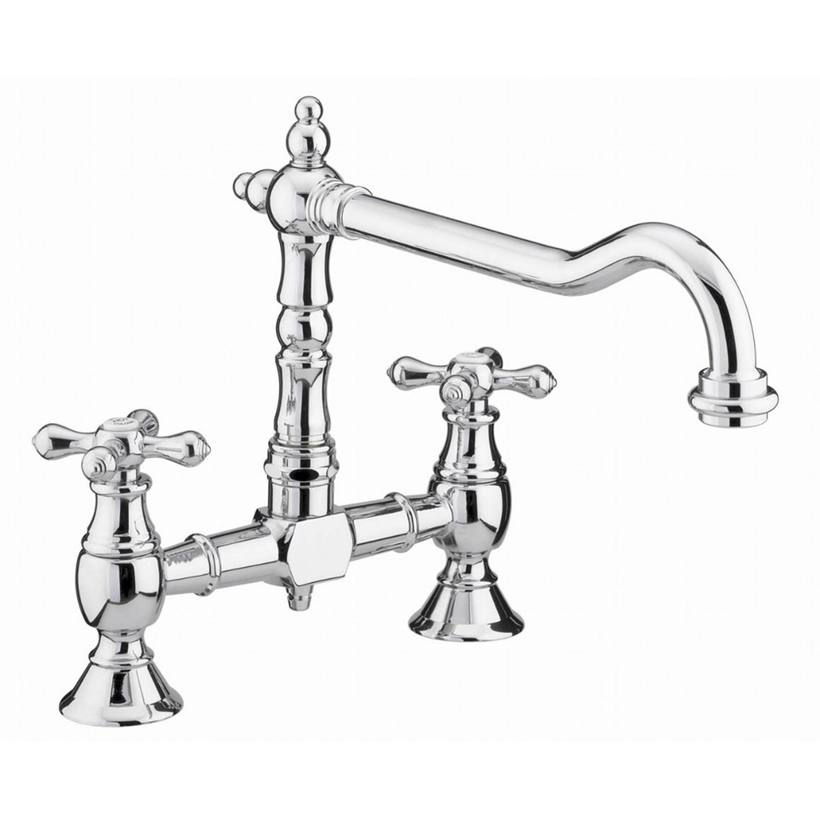 enki chrome kitchen sink mixer tap traditional black - White Kitchen Sink Taps