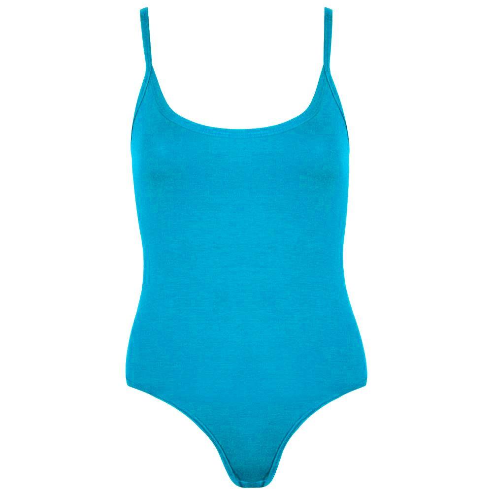 Débardeur femmes sans manches stretch basic plain jersey body justaucorps débardeur