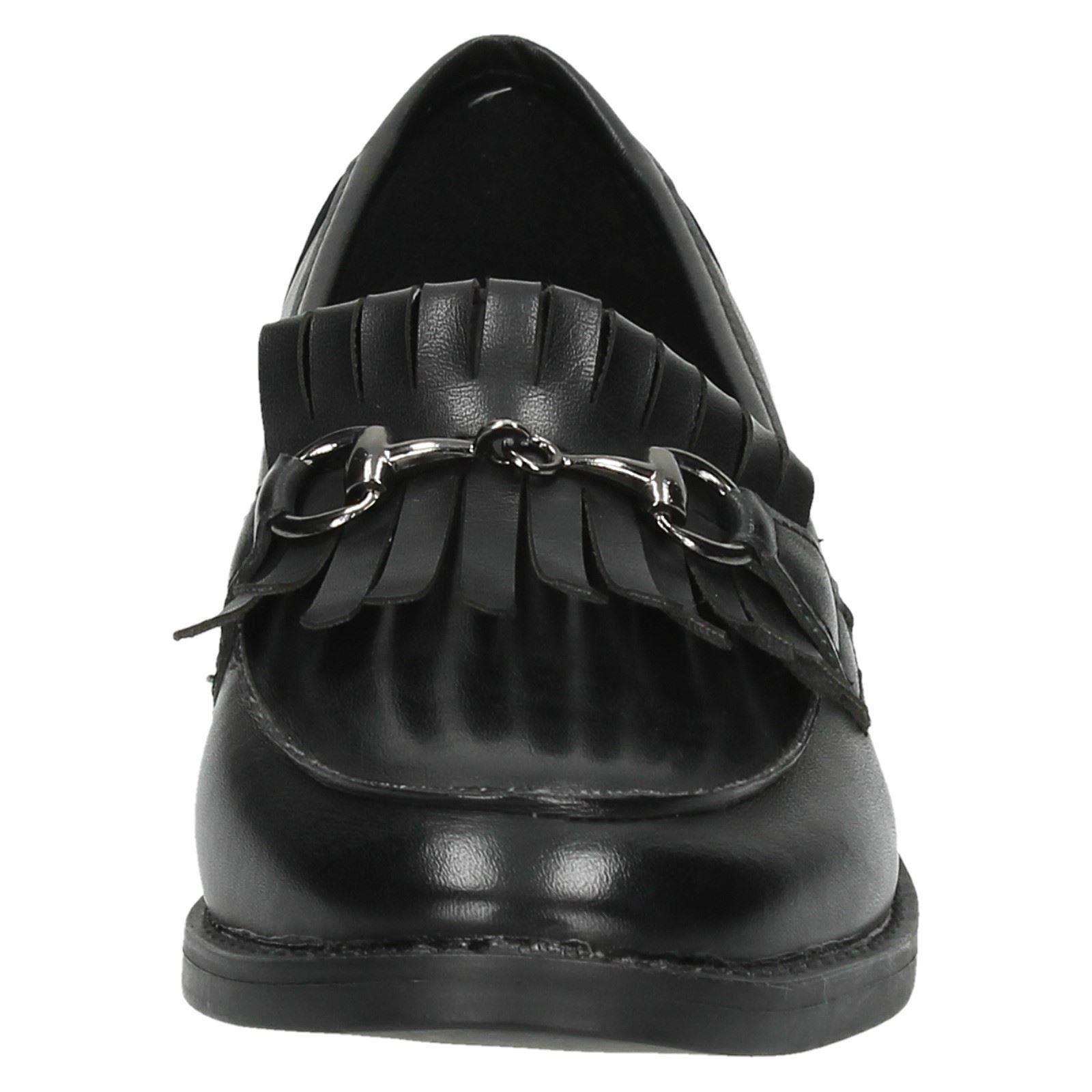 Mujer Spot On Mocasines Zapatos Estilo 'f80131'