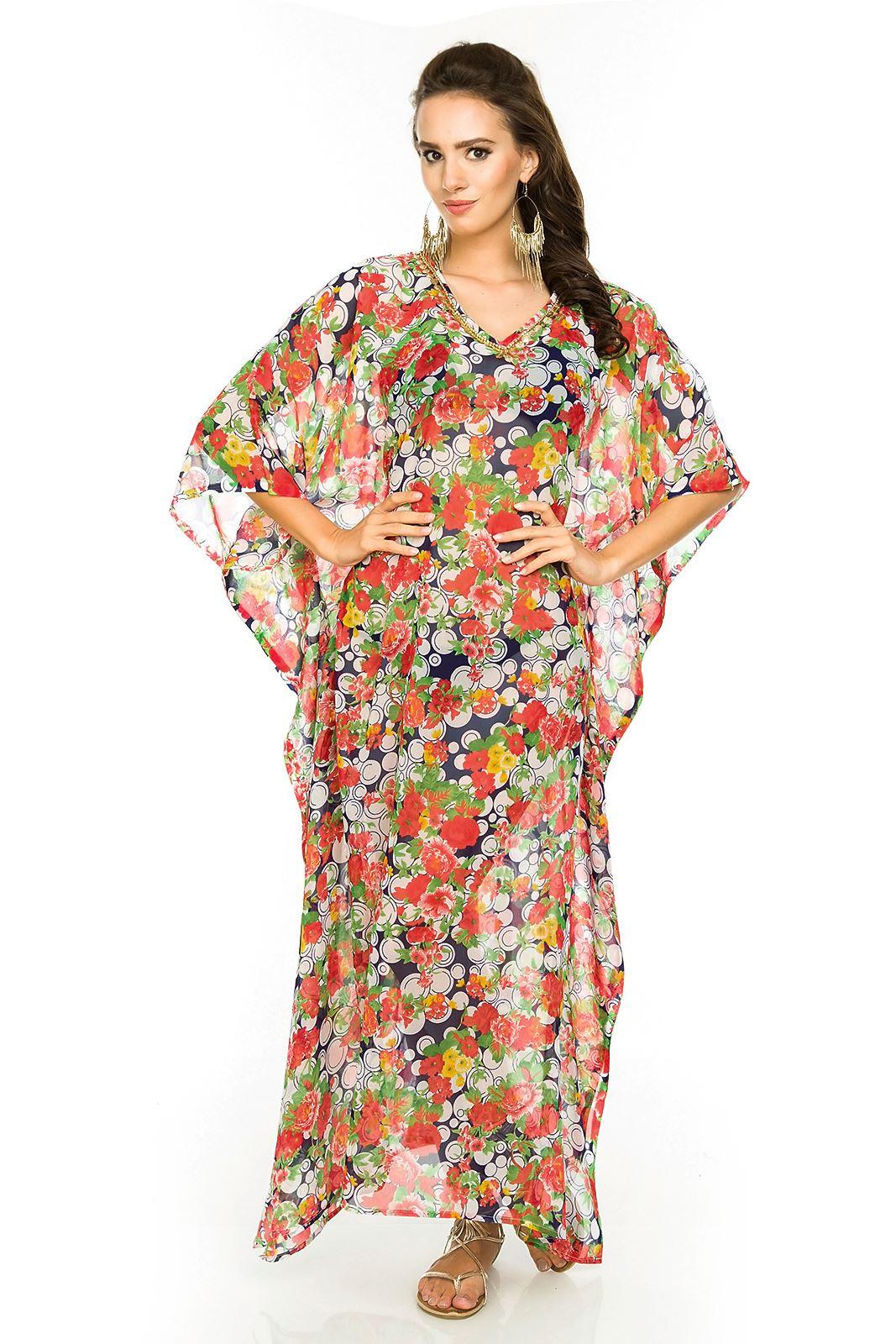 femmes longue kimono maxi t plage couette caftan robe taille 10 26 ebay. Black Bedroom Furniture Sets. Home Design Ideas