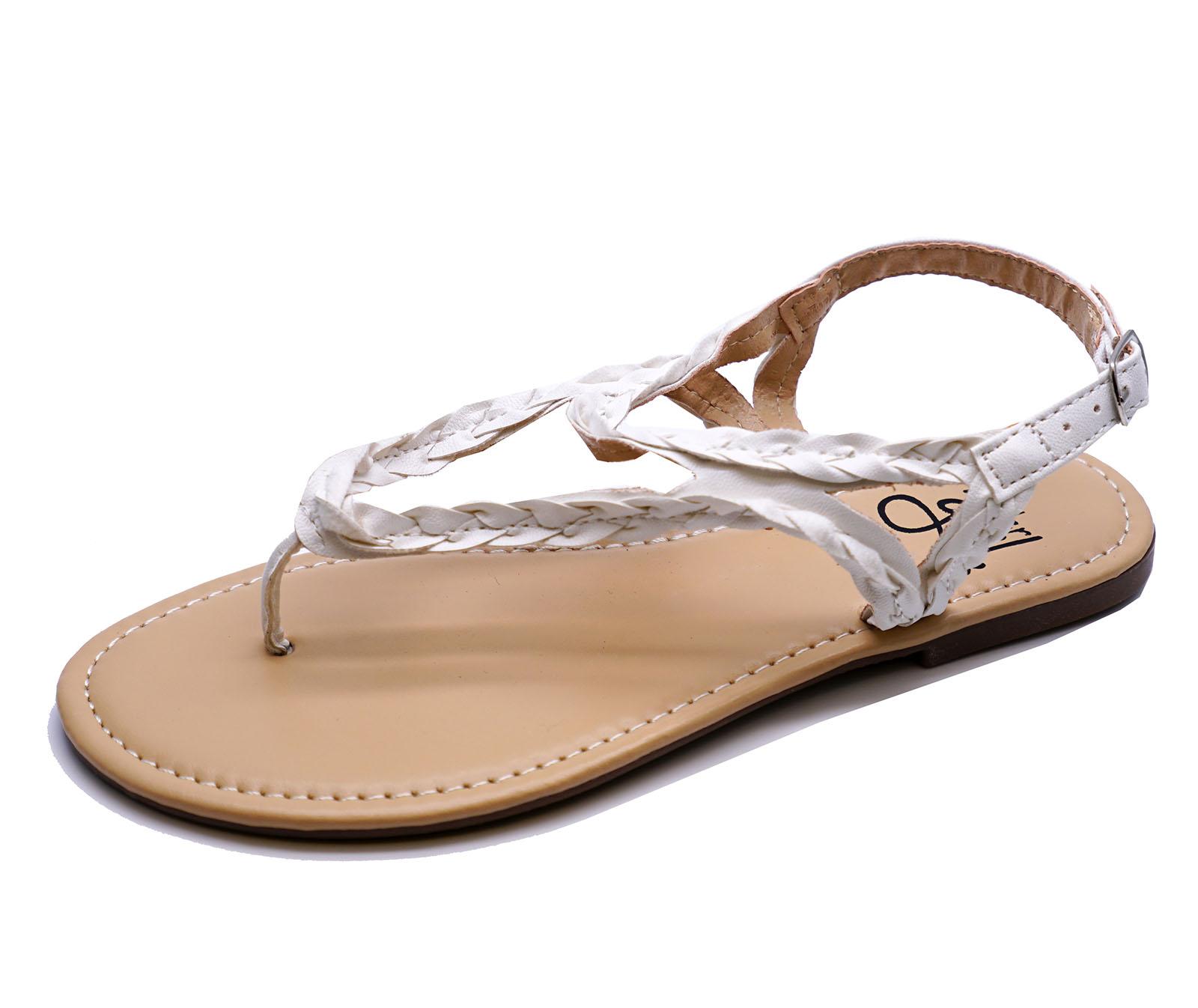 Filles-Enfants-Blanc-Tongs-Gladiator-SANDALES-ete-pointure-Chaussures-11-4