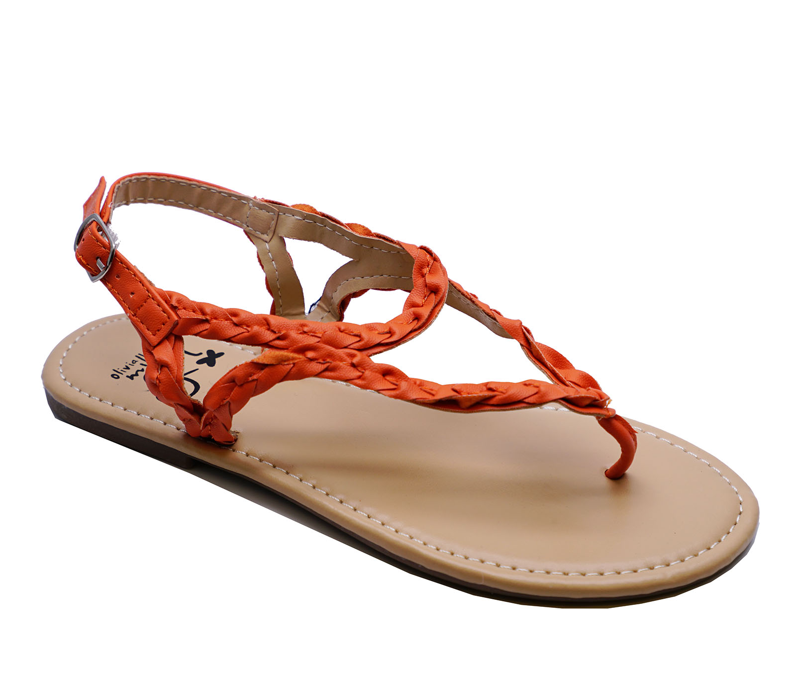 nina-infantil-naranja-con-Tira-Sandalias-Estilo-Gladiador-Zapatos-de-verano