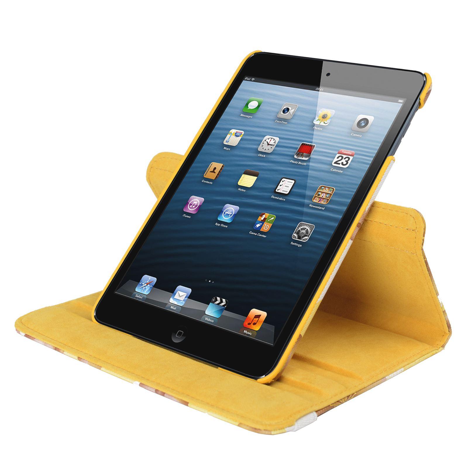 Para-Apple-IPAD-Mini-1-2-3-Smart-Funda-de-Piel-Flores-Rotacion-360 miniatura 41