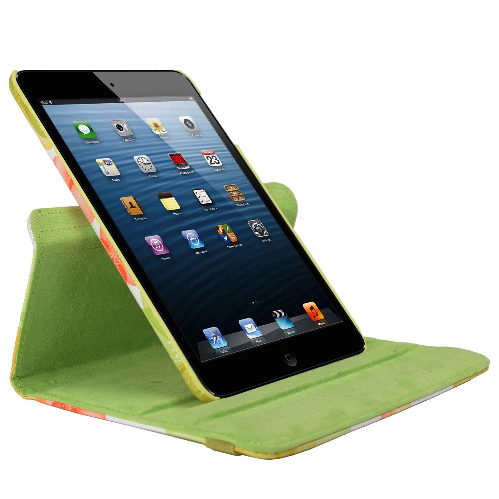 Para-Apple-IPAD-Mini-1-2-3-Smart-Funda-de-Piel-Flores-Rotacion-360 miniatura 24