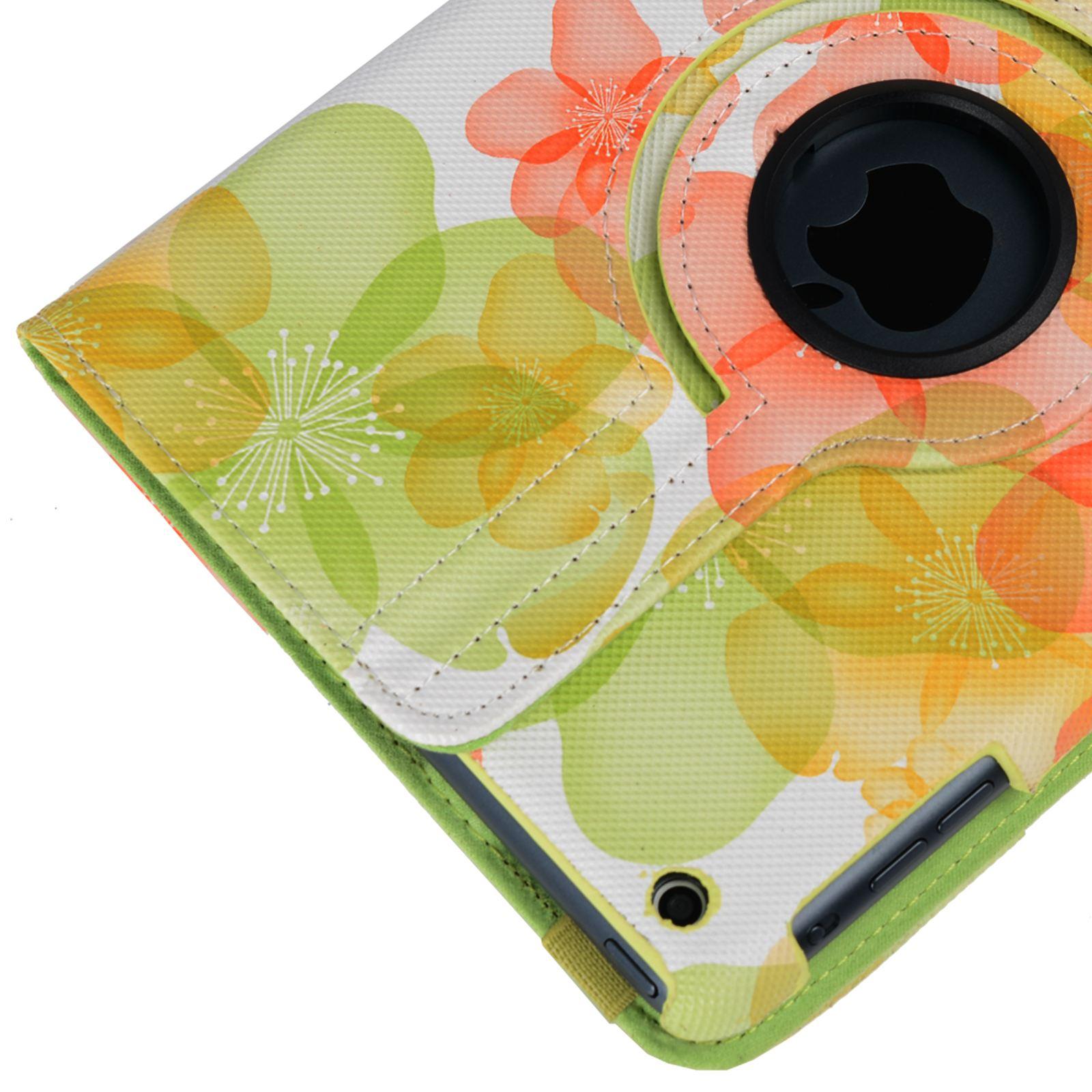 Para-Apple-IPAD-Mini-1-2-3-Smart-Funda-de-Piel-Flores-Rotacion-360 miniatura 21