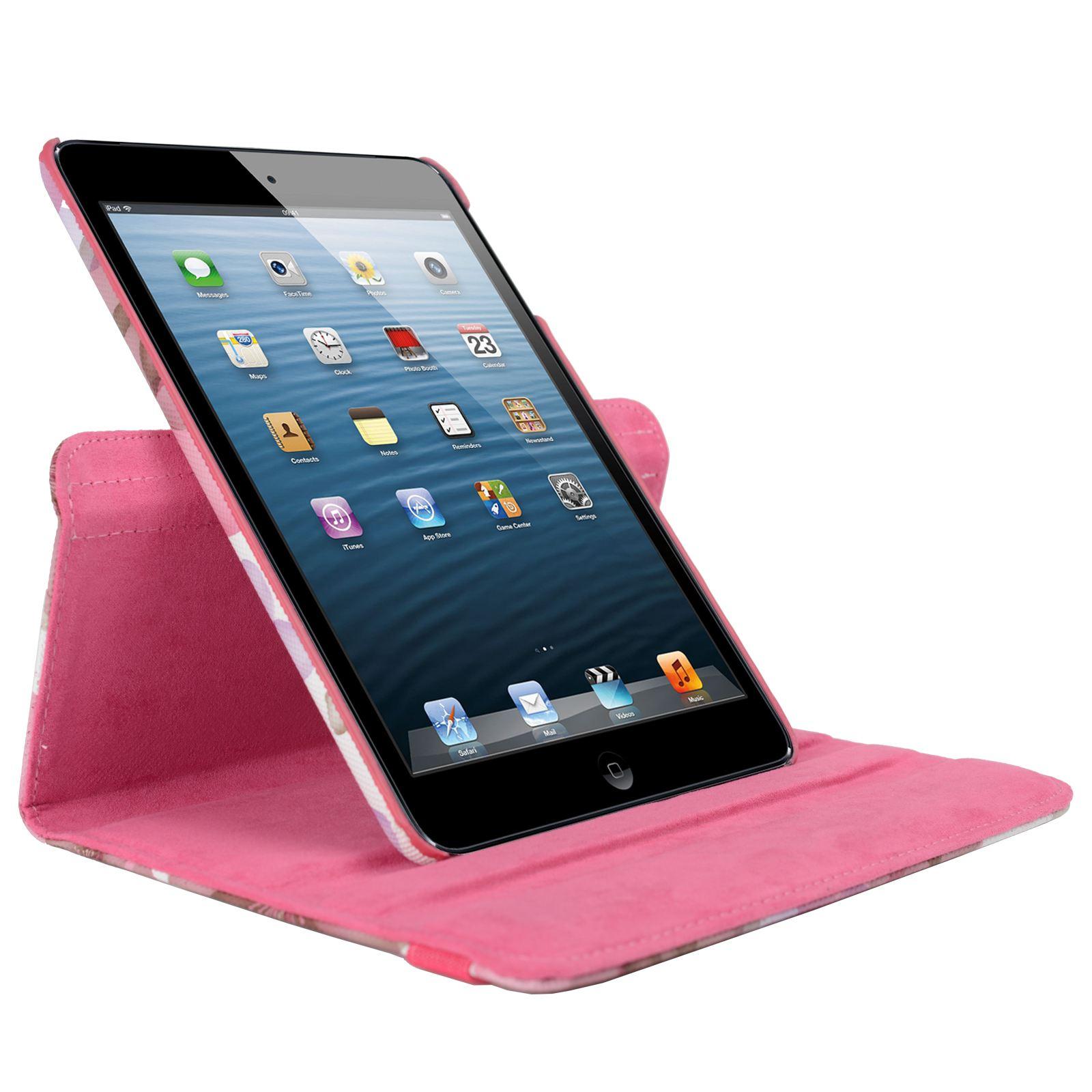 Para-Apple-IPAD-Mini-1-2-3-Smart-Funda-de-Piel-Flores-Rotacion-360 miniatura 31