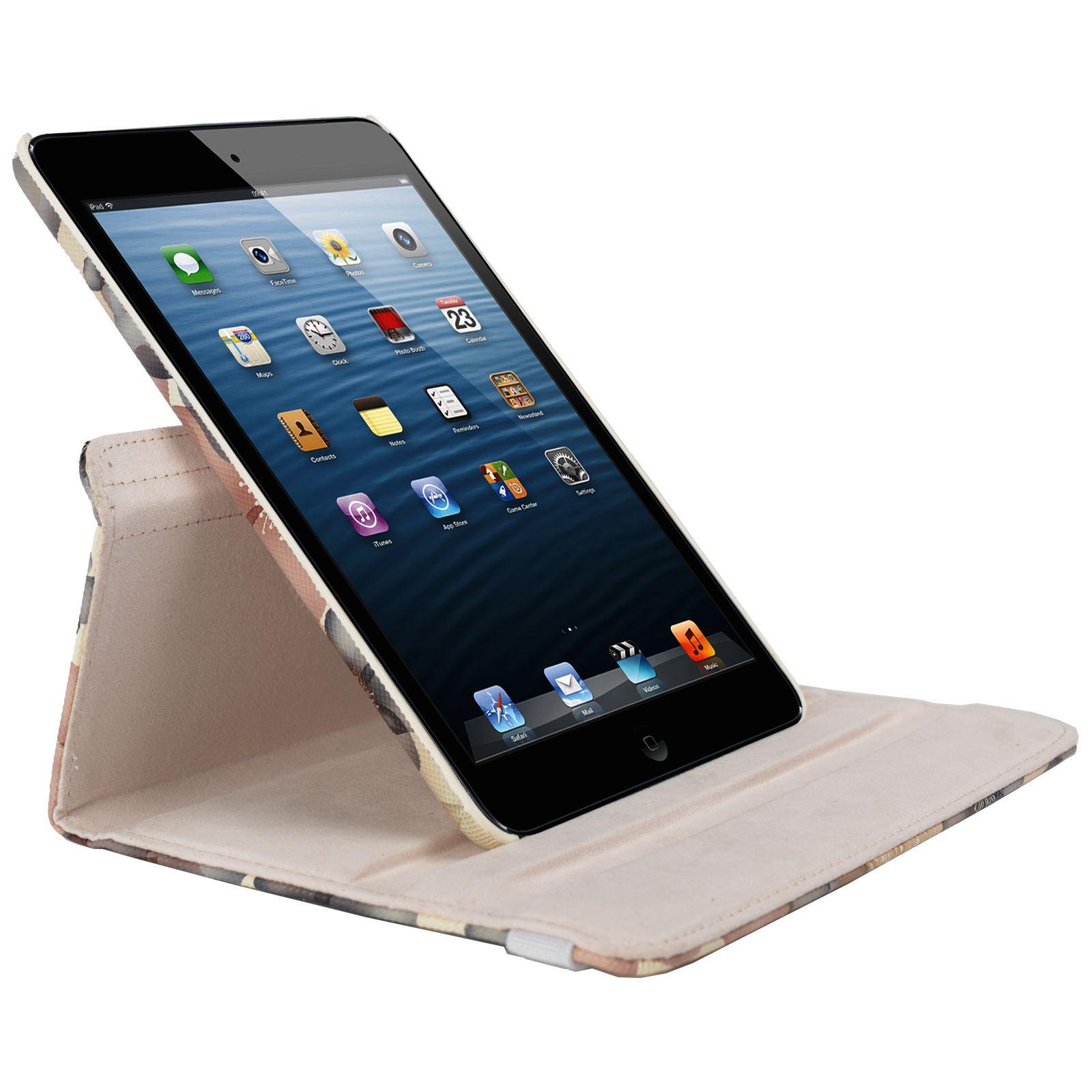 Para-Apple-IPAD-Mini-1-2-3-Smart-Funda-de-Piel-Flores-Rotacion-360 miniatura 7