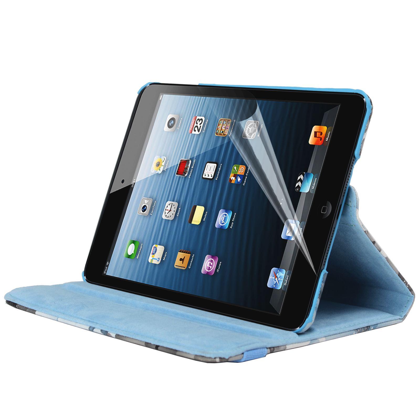 Para-Apple-IPAD-Mini-1-2-3-Smart-Funda-de-Piel-Flores-Rotacion-360 miniatura 12