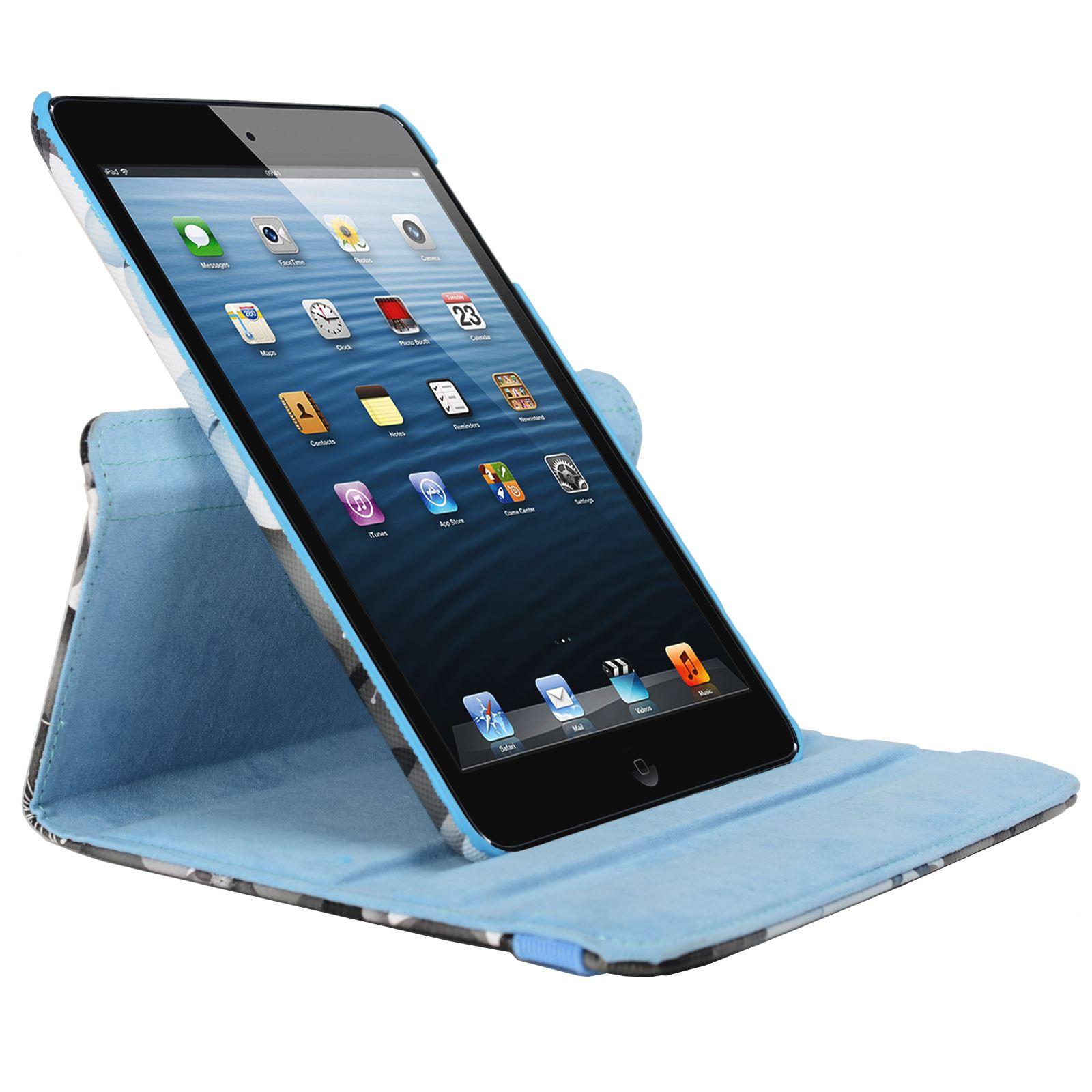 Para-Apple-IPAD-Mini-1-2-3-Smart-Funda-de-Piel-Flores-Rotacion-360 miniatura 14