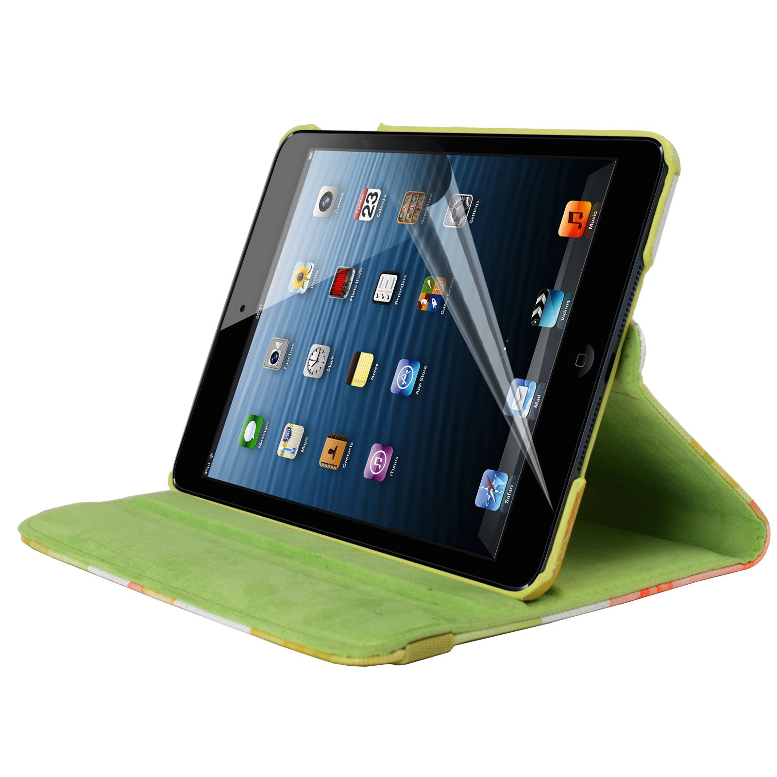 Para-Apple-IPAD-Mini-1-2-3-Smart-Funda-de-Piel-Flores-Rotacion-360 miniatura 23